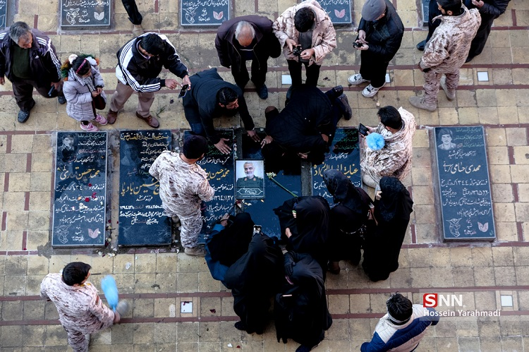 عکس/ اولین تصاویر از مزار سردار سلیمانی!