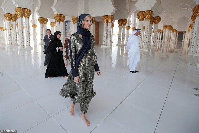ایوانکا ترامپ از مسجد شیخ زاید در امارات دیدن کرد