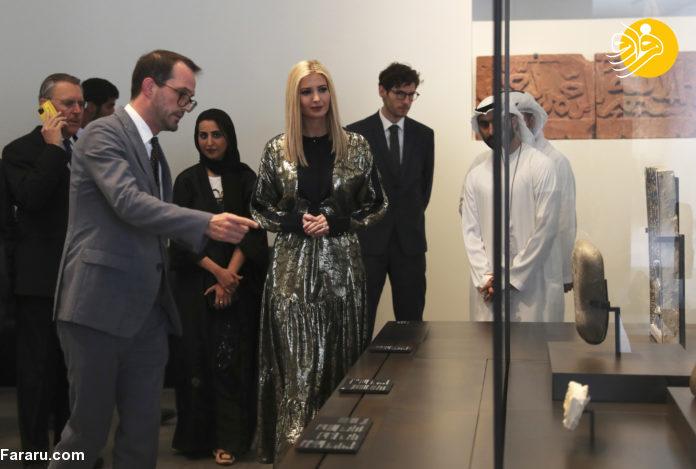 ایوانکا ترامپ از مسجد شیخ زاید در امارات دیدن کرد + تصاویر