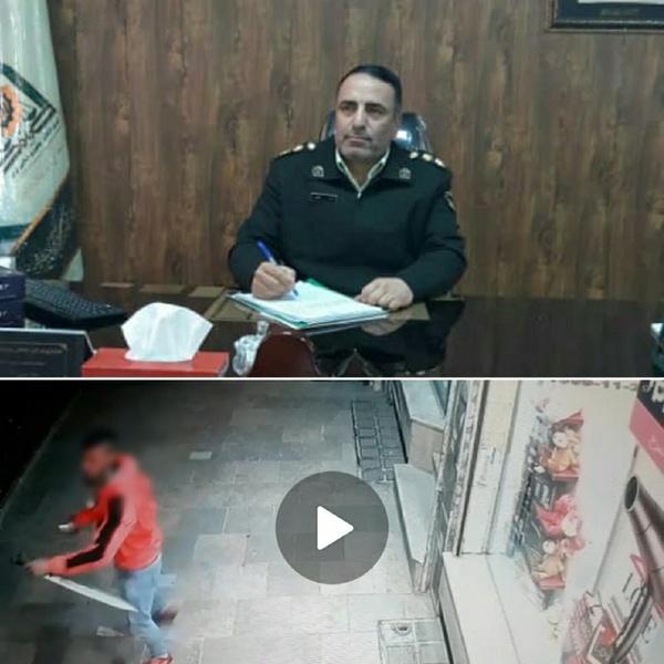 دستگیری فردی که با قمه مزاحم زنان در دماوند میشد+ عکس