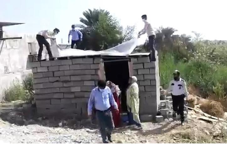 حاشیههای تخریب خانه طیبه رمضان زاده زن بندرعباسی +فیلم