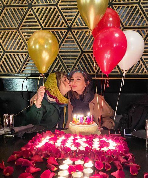 نیوشا ضیغمی در جشن تولد خواهرش روشا ضیغمی + عکس
