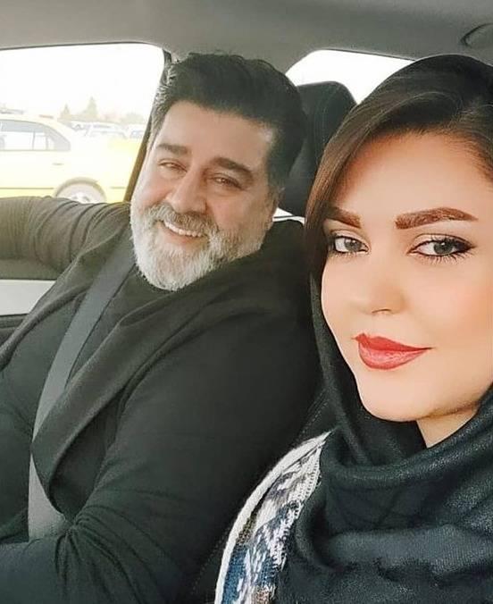 مهدی یغمایی و همسرش
