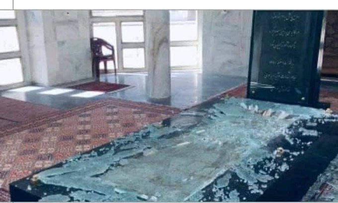 طالبان مقبره احمدشاه مسعود را تخریب کرد+ عکس
