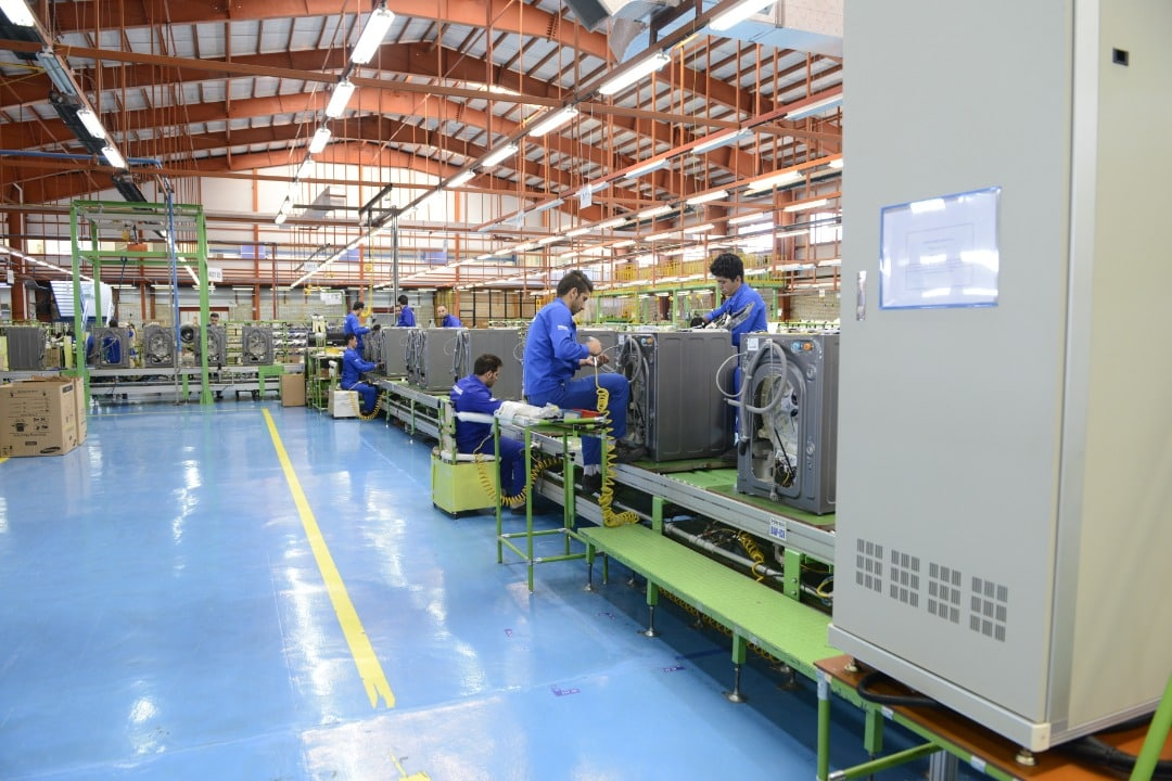خطوط تولید شرکت سام الکترونیک