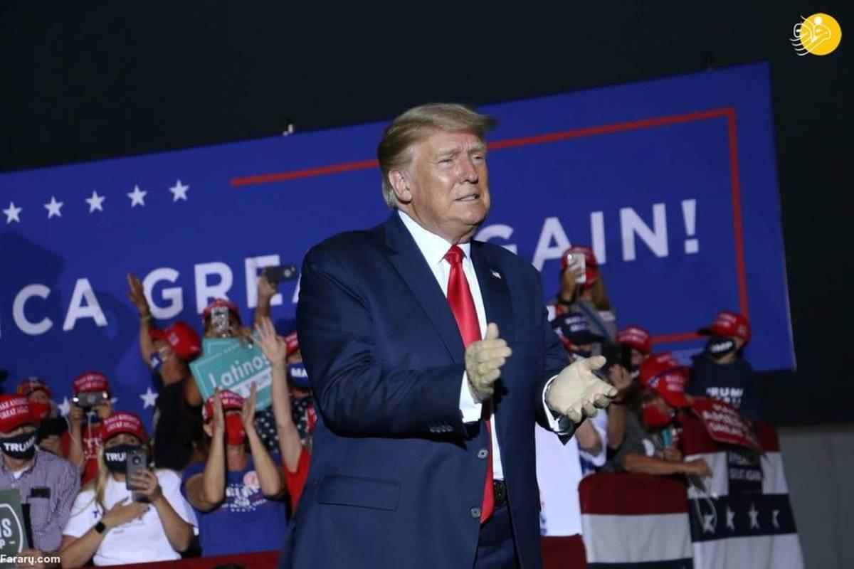 کارزار انتخاباتی ترامپ در نوادا در شرایط کرونا