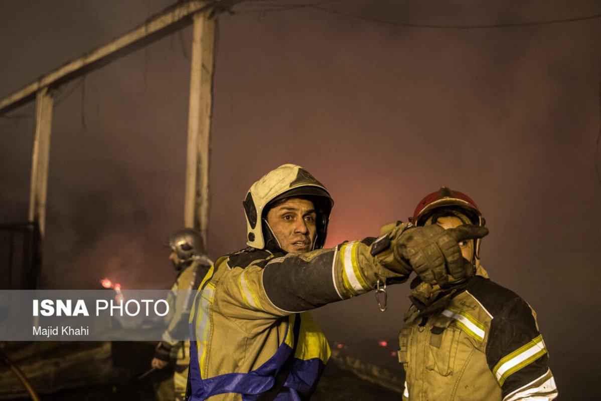 آتش سوزی در شوش