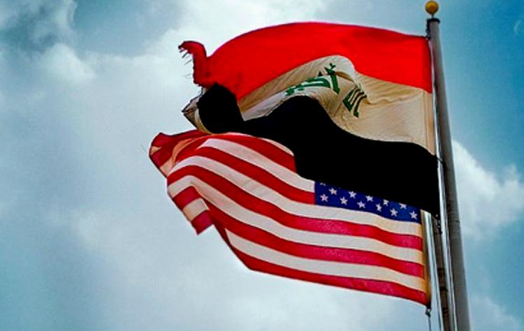 پرچم عراق و آمریکا