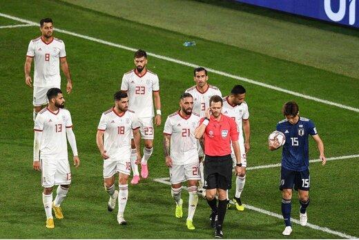 باختهای تیمهای ایرانی مقابل ژاپنیها