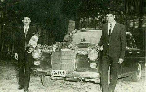 تزئین ماشین عروس در دهه ۴۰
